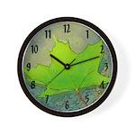 Fallen Maple Leaf Wall Clock