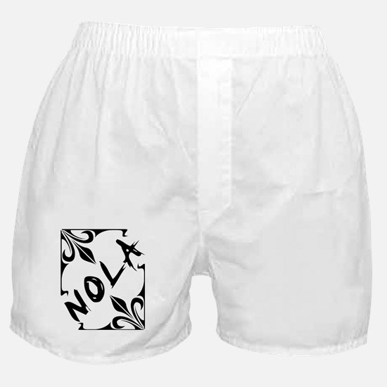 New Orleans Wrought Iron Design Boxer Shorts