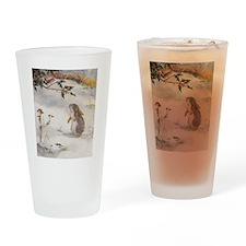 1927 Christmas Bunny Drinking Glass