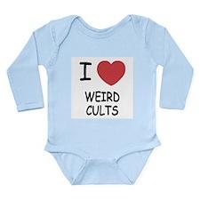 I heart weird cults Long Sleeve Infant Bodysuit