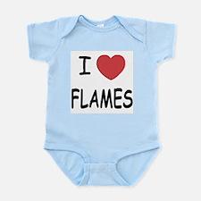 I heart flames Infant Bodysuit