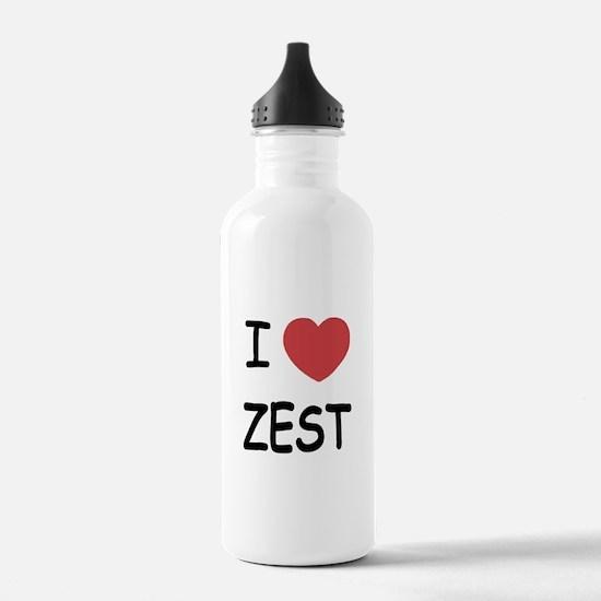 I heart zest Water Bottle