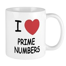I heart prime numbers Small Mug