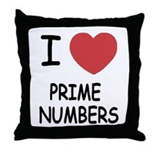 I heart prime numbers Throw Pillow