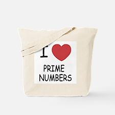 I heart prime numbers Tote Bag