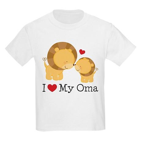 I Heart My Oma Kids Light T-Shirt