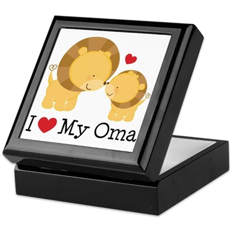 I Heart My Oma Keepsake Box
