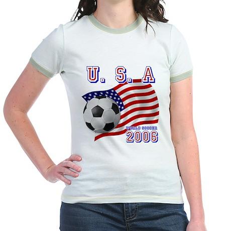 U.S.A World Soccer 2006 Jr. Ringer T-Shirt