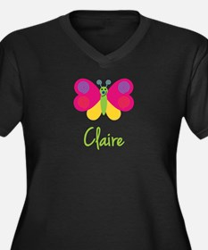 Claire The Butterfly Women's Plus Size V-Neck Dark