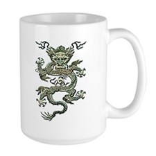 Quianlong Dragon Carved Mug