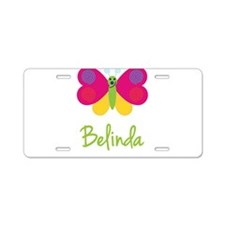 Belinda The Butterfly Aluminum License Plate