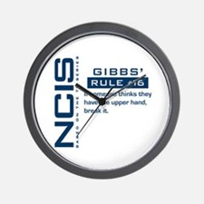 NCIS Gibbs' Rule #16 Wall Clock