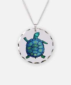 Blue Turtle Boogie Necklace