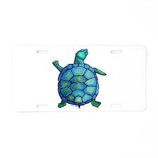 Blue Turtle Boogie Aluminum License Plate