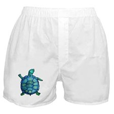 Blue Turtle Boogie Boxer Shorts