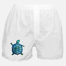 Blue Turtle Boogie Boxer Shorts