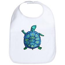 Blue Turtle Boogie Bib