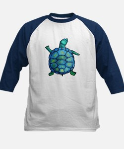 Blue Turtle Boogie Kids Baseball Jersey