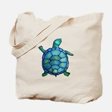 Blue Turtle Boogie Tote Bag