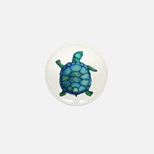 Blue Turtle Boogie Mini Button (10 pack)