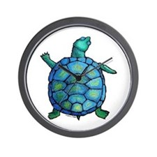 Blue Turtle Boogie Wall Clock