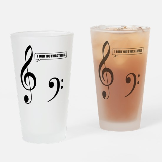 Treble Clef Drinking Glass