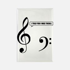 Treble Clef Rectangle Magnet