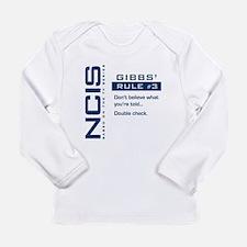 NCIS Gibbs' Rule #3 Long Sleeve Infant T-Shirt
