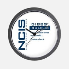 NCIS Gibbs' Rule #3 Wall Clock