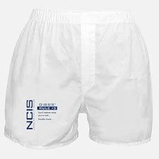 NCIS Gibbs' Rule #3 Boxer Shorts