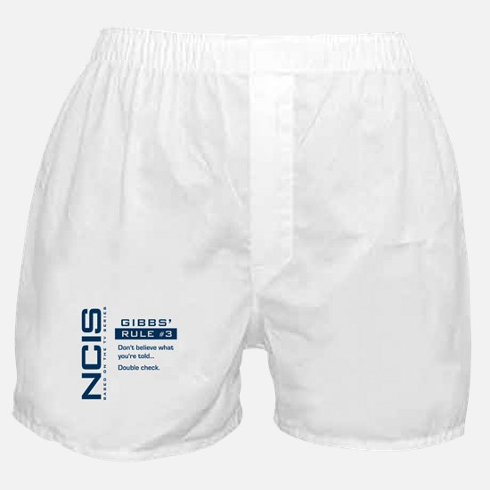 NCIS Gibbs' Rule #3 Boxer Shorts