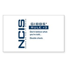 NCIS Gibbs' Rule #3 Decal