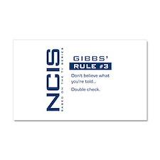 NCIS Gibbs' Rule #3 Car Magnet 20 x 12