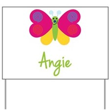Angie The Butterfly Yard Sign