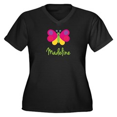 Madeline The Butterfly Women's Plus Size V-Neck Da