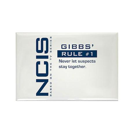 NCIS Gibbs' Rule #1 (Version 2) Rectangle Magnet