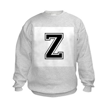 Varsity Letter Z Kids Sweatshirt