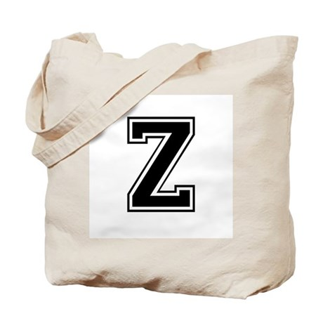 Varsity Letter Z Tote Bag