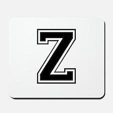 Varsity Letter Z Mousepad