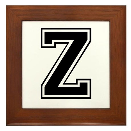 Varsity Letter Z Framed Tile