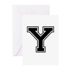 Varsity Letter Y Greeting Cards (Pk of 10)