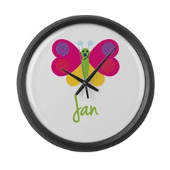 Jan The Butterfly Large Wall Clock