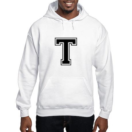 Varsity Letter T Hooded Sweatshirt