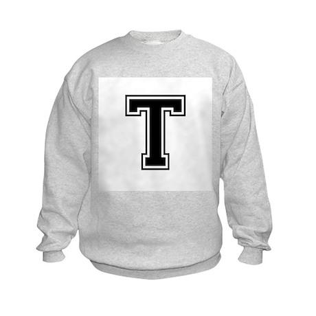 Varsity Letter T Kids Sweatshirt