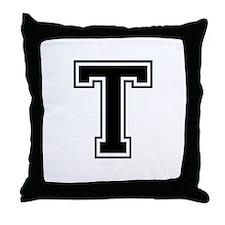 Varsity Letter T Throw Pillow
