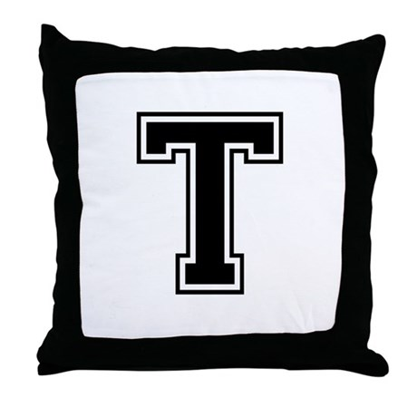 Varsity Letter T Throw Pillow