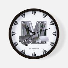 Heavy Metal M Wall Clock