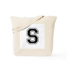 Varsity Letter S Tote Bag