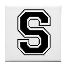 Varsity Letter S Tile Coaster