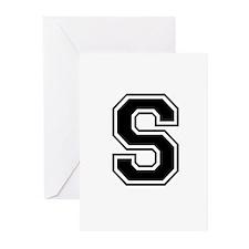 Varsity Letter S Greeting Cards (Pk of 10)